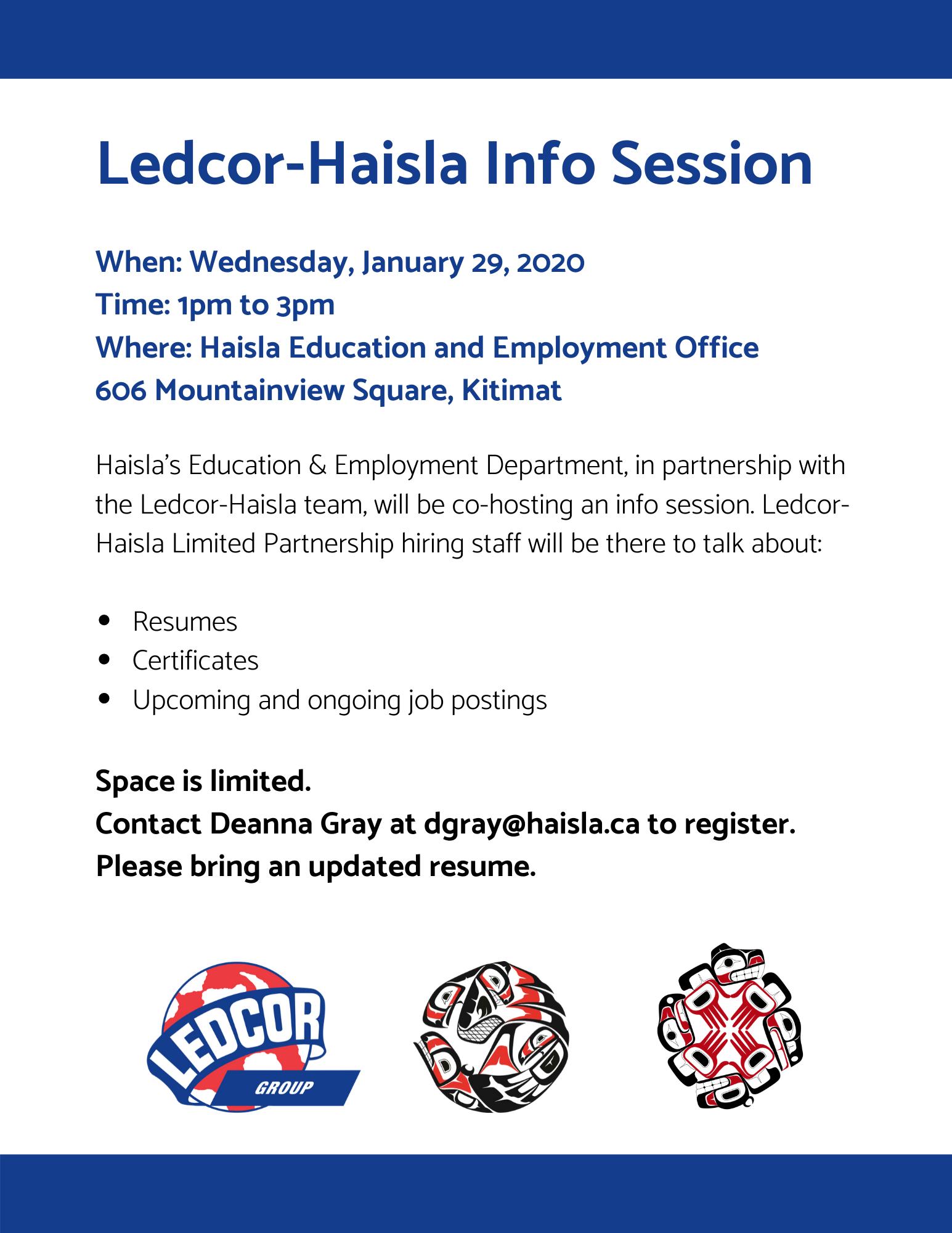 january 29 - ledcor- haisla info session